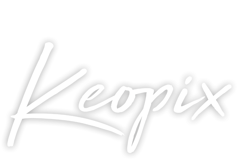 Keopix Logo shown in White
